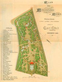 Bürgerpark Plan 1900